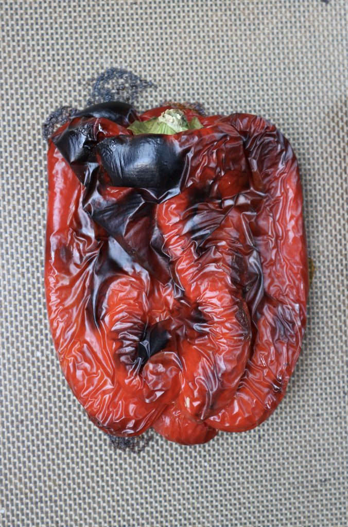 Close up, Roasted Red Bell Pepper.