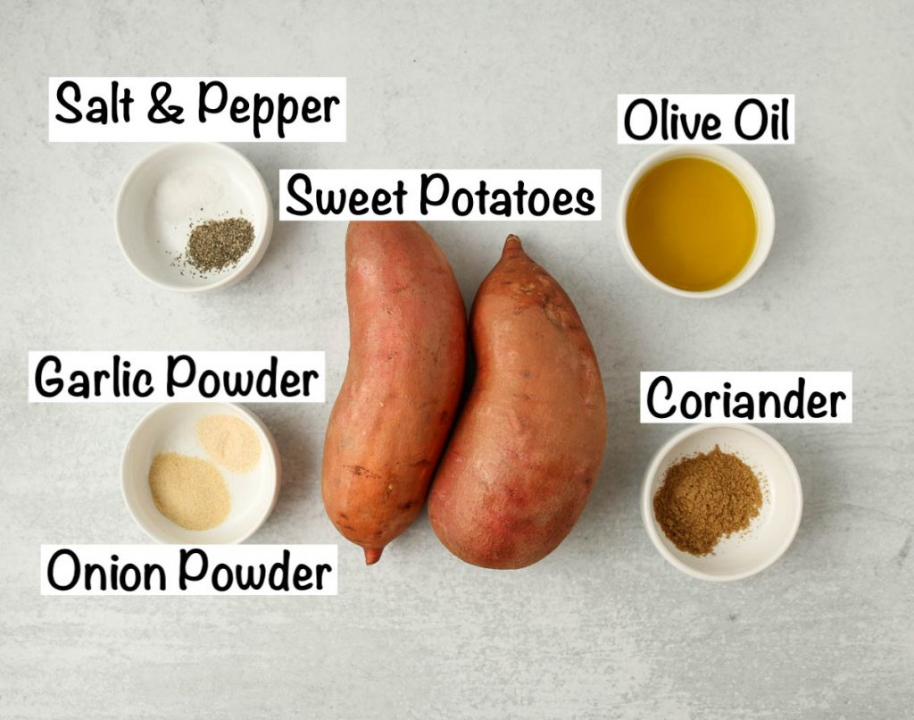 Labeled ingredients for recipe.
