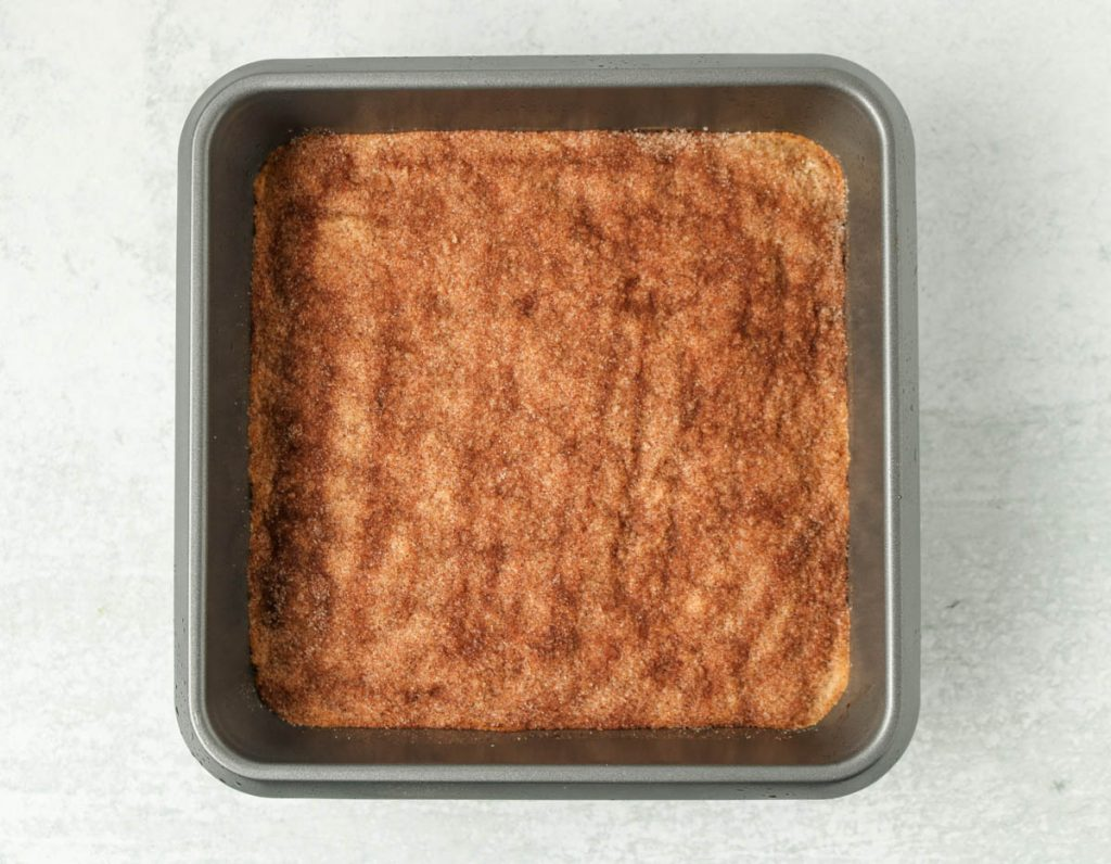 Bars in pan cooked.